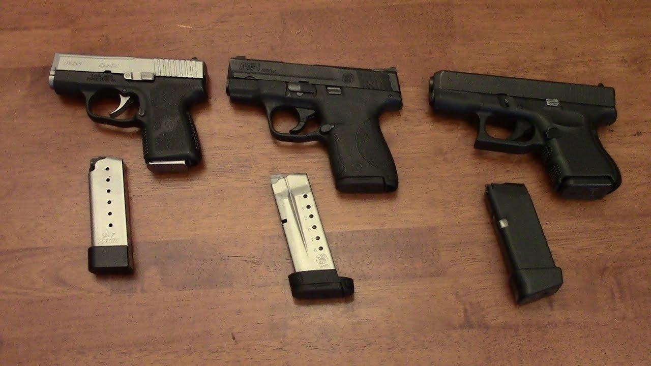 Kahr PM9 VS M&P Shield VS Glock 26