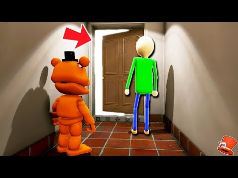 GUESS WHAT'S IN BALDI'S BASICS SECRET ANIMATRONIC ROOM! (GTA 5 Mods For Kids FNAF RedHatter)