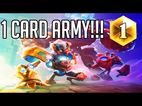 1 Card Army!!! (Mech Paladin Rise Of Shadows)