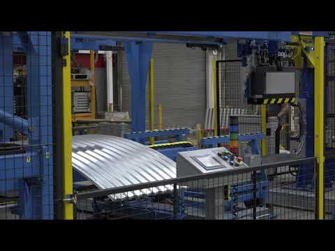 Samco Machinery Robotic Grain Bin Panel Curving and Stacking System