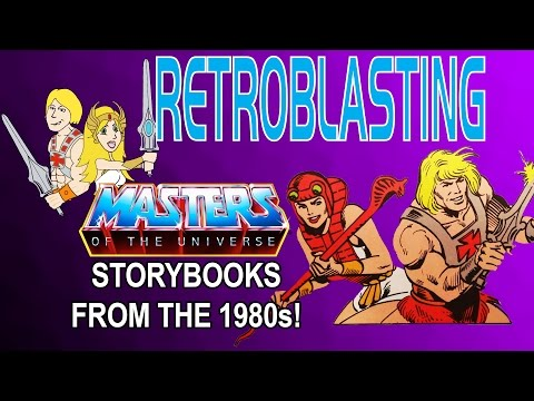 Masters of the Universe 1980s Storybooks! He-Man MOTU RetroBlasting Review