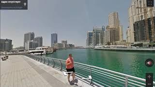 Дубай город мечты, оаэ отдых в Дубае. Арабские эмираты и прогулка вдоль набережной.