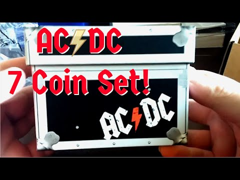 AC/DC 20 Cent Coins - 7 Coin Set