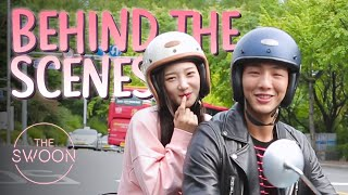 [Behind the Scenes] Jisoo and Jung Chae-yeon get drenched! 💦| My First First Love Ep 1 [ENG SUB CC]
