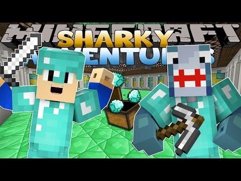 Minecraft Games - Sharky & Scuba Steve - BREAKING OUT FROM CITY PRISON
