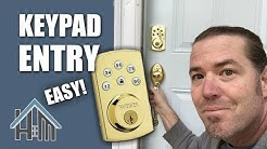 How to change keyless entry deadbolt, key pad code on entry door. Easy!