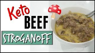 ???? COOK WITH ME BEEF STROGANOFF ● LOW CARB KETO BEEF STROGANOFF RECIPE ● KETO FAMILY MEAL PREP