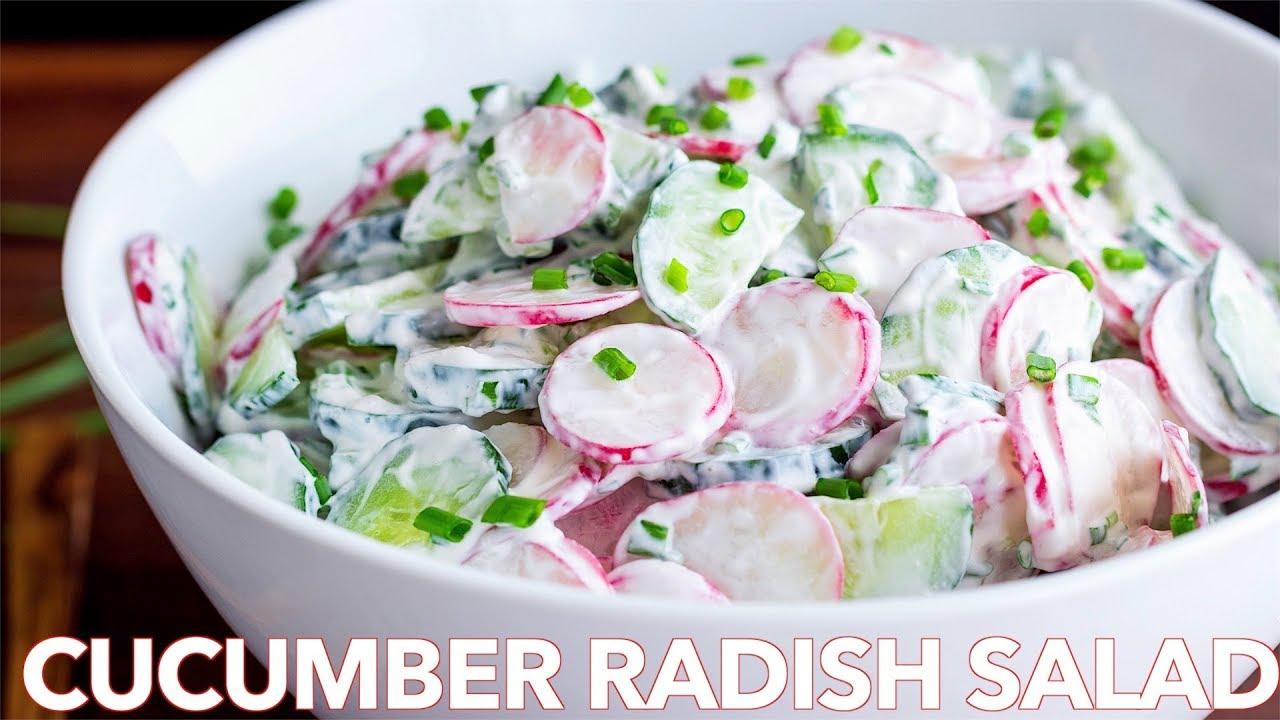 How To Make Creamy Cucumber Radish Salad