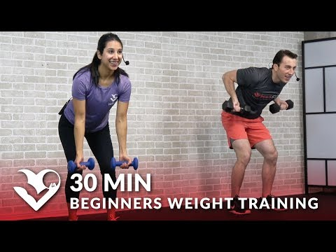 30 Minute Workout for Beginners Weight Training – Beginner Strength Workout Routine for Women & Men