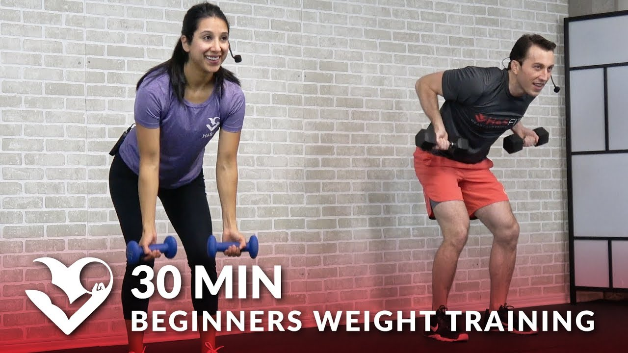 30 Minute Workout for Beginners Weight Training - Beginner Strength Workout  Routine for Women & Men