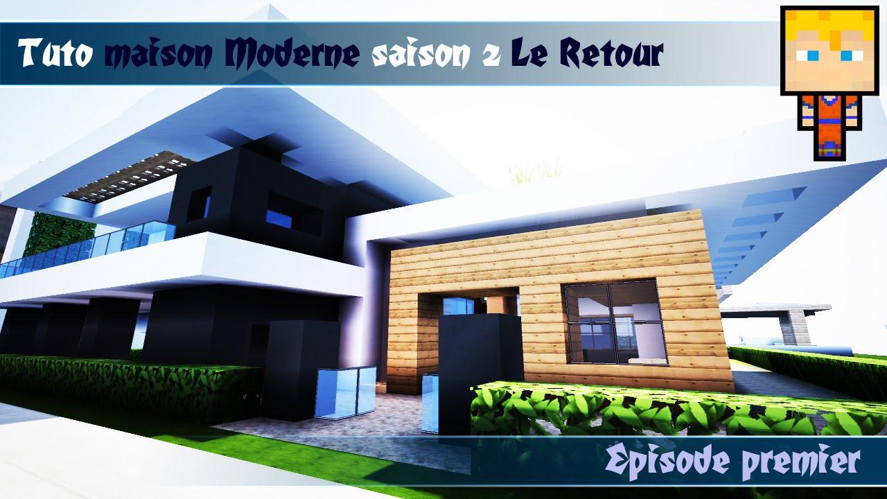 Minecraft : Tuto maison moderne n°2 Episode 1/3 - YouTube