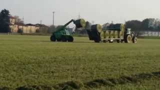 AgriCompact Technologies GmbH: baling of alfalfa hay bales for our Hay Dryer Compact Thumbnail
