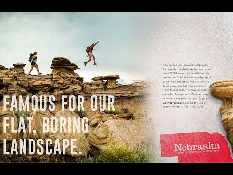 "New  Nebraska Tourism Campaign: ""Nebraska. It's not for everyone."""