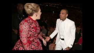 Adele Chris Brown Clash At Grammys