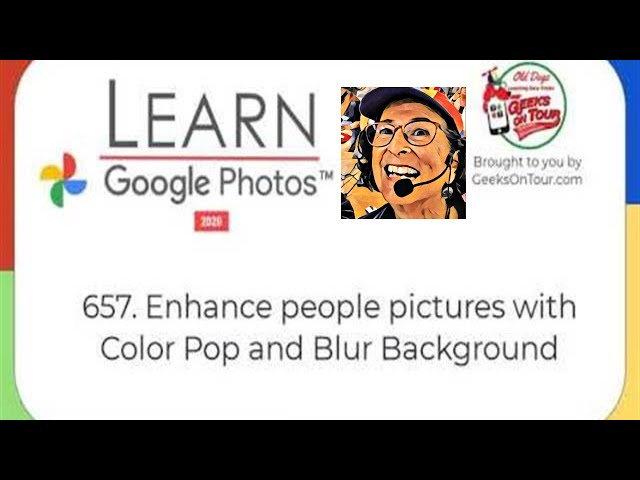 Enhance People Pictures with Color Pop and Blur Background Tutorial Video 657