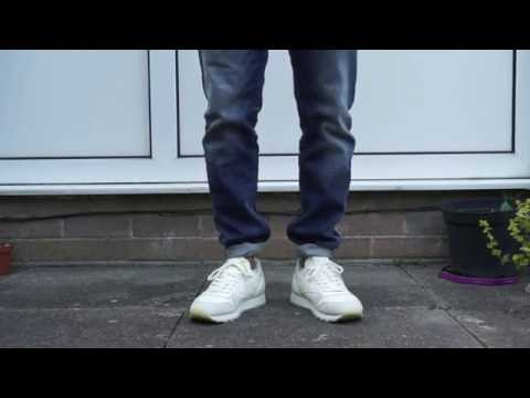 157f56caa5a1da Reebok Classic Butter Soft on feet look - YouTube