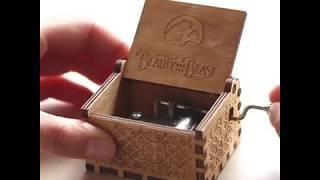 Handmade Custom Beauty and the Beast Music Box by Music Chests