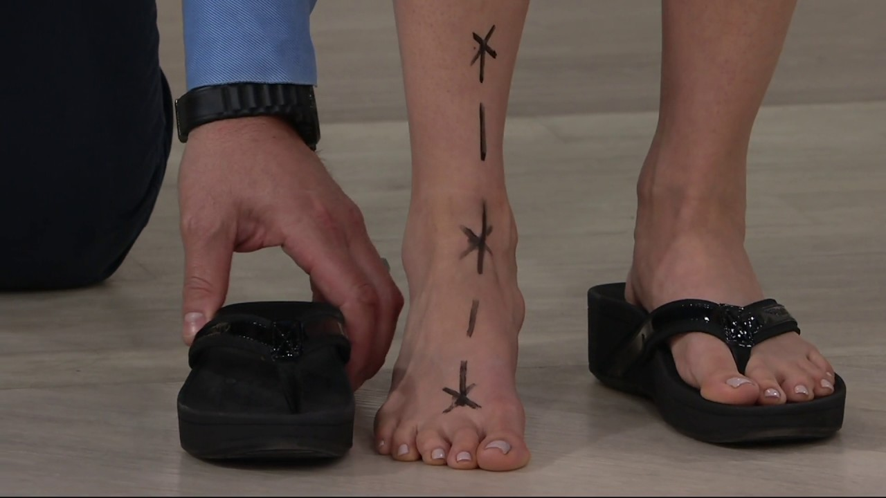 4d75db2217735 Vionic Orthotic Platform Leather Sandals - High Tide on QVC - YouTube