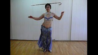 Танцы живота. Красивый танец с тростью. Belly dance. #Танцы