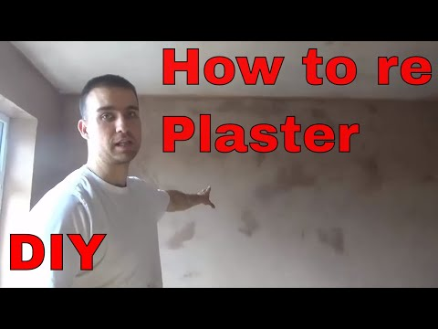 HOW TO PLASTER A WALL FOR BEGINNERS DIY
