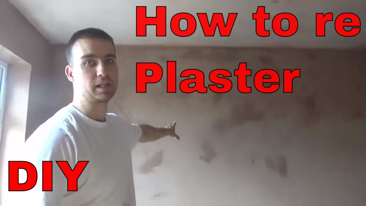 HOW TO PLASTER A WALL FOR BEGINNERS DIY - YouTube