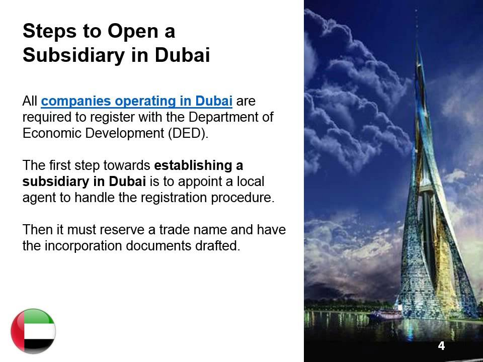 Establish a Subsidiary in Dubai