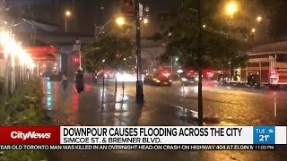 Downpour floods multiple areas in Toronto