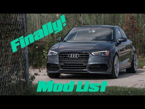 2015 Audi A3 | Mod List Full bolt-ons