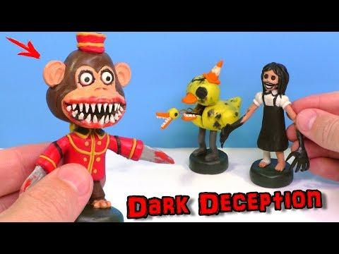 Ліпимо Мавпу, Агату і Качку з гри Dark Deception | Відео Ліплення