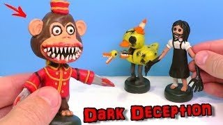 Лепим Обезьяну Агату и Утку из игры Dark Deception Видео Лепка