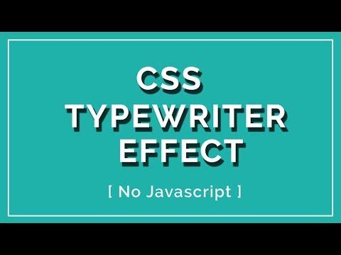 Typewriter Text Effect using css | Typewriter Effect CSS | No Javascript