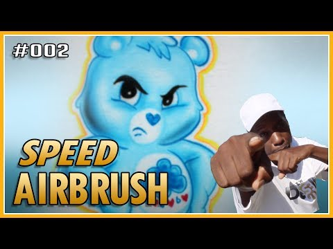 How To Airbrush Cartoon Characters Care Bear   FEW Does It! #002 Air