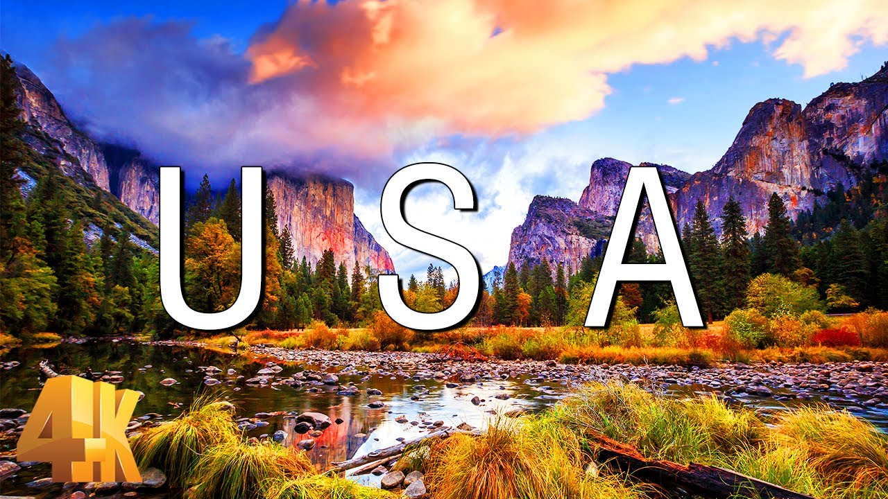 FLYING OVER USA (4K UHD) - Relaxing Music & Amazing Beautiful Nature Scenery For Stress Relief