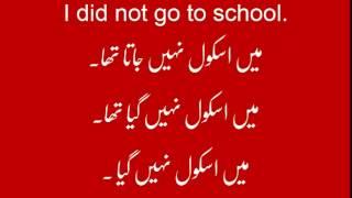 Lesson-28  Urdu Sentences with Past Indefinite Tense  Part-2/2