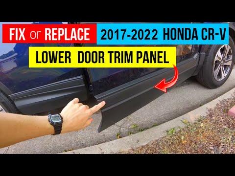 Fix or Replace Lower Door Trim Molding 2017-2019 Honda CR-V. Repairing Broken Plastic Car Parts.