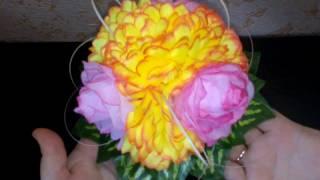Цветочный декор для высокой вазы
