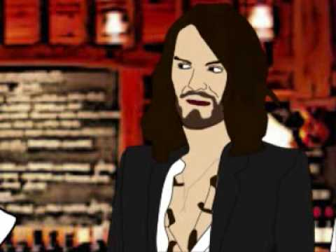 Russell Brand and Noel Gallagher radio show animated