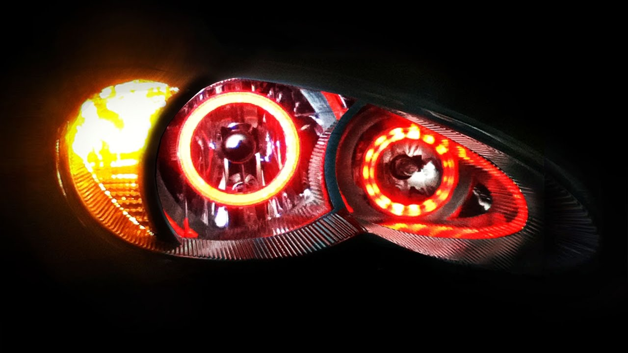 2006 To 2010 Chrysler Pt Cruiser Color Changing Led Halo Headlights