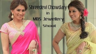 SHREEDEVI CHOWDARY IN MBS JEWELLERY SHOOT