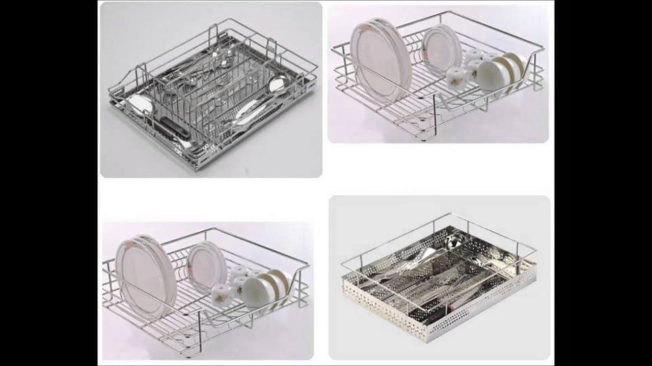 modular kitchen baskets designs. SONIA Designer Thali Baskets Dish Rack Kitchen Drawer  Modular Basket Unit YouTube