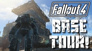 Fallout 4 MEGA BASE TOUR! | My Sanctuary Settlement