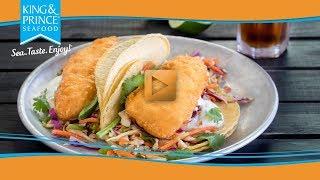 Battered Cod Tacos