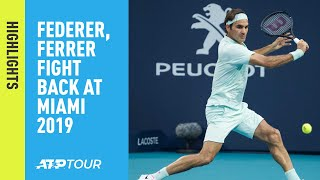 Highlights: Federer, Ferrer Fight Back In Miami