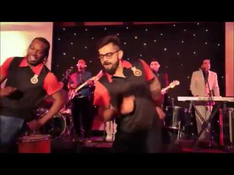 chris gayle and virat kohli dancing on bhojpuri song sania mirza cut nathumiya