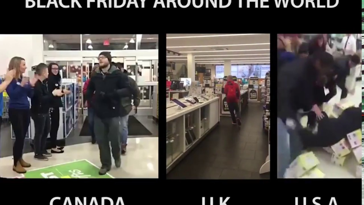 Black Friday In U S A Uk And Canada Youtube