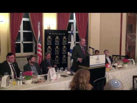 Mike  Huckabee OJC Jewish Chamber Israel Business Alliance Dinner