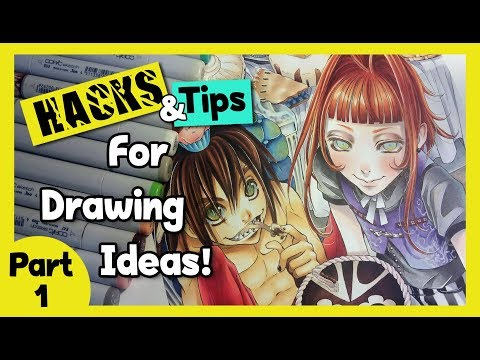 ▼ HACKS for Drawing Ideas ▼ Coming up With Paintings, Sculptures, Pictures ▼ARTIST LIFE HACKS