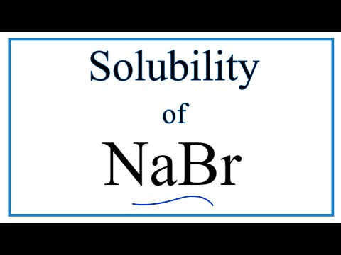 Is NaBr Soluble Or Insoluble In Water?