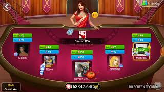 How to bet on casino war (Teen Patti Flush)