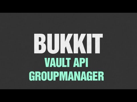 ★ Bukkit Tutorial - Vault and Groupmanager - Part 2 (API and Permission  Managers)
